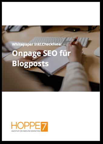 Onpage SEO für Blogposts - kostenloses Whitepaper jetzt downloaden!