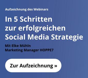 In 5 Schritten zur erfolgreichen Social Media Strategie - kostenloses Webinar