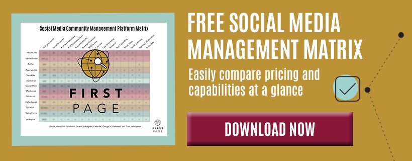 free social media management matrix