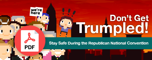 Download the Trumpled Offer to avoid personal injury at the RNC
