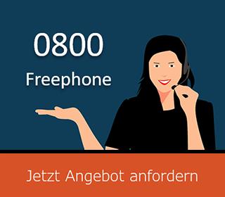0800 Freephone Angebot anfordern