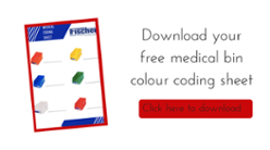 Medical bin colour coding sheet