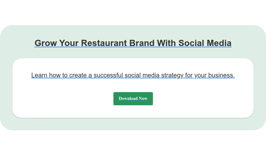 Grow Your Restaurant Brand With Social Media Learn how to create a successful social media strategy for your business. Download Now
