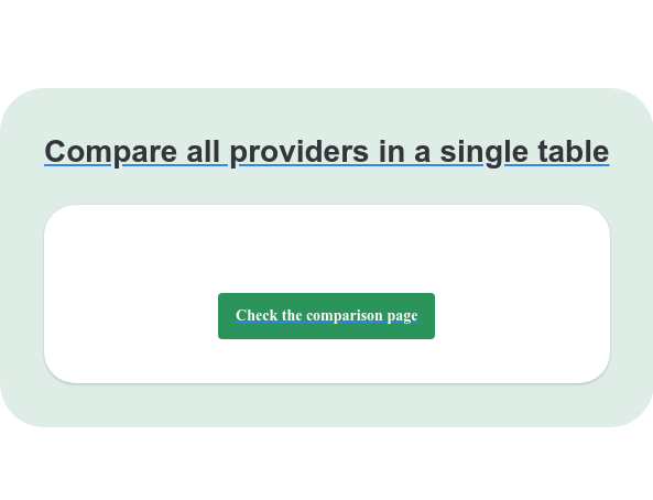 Compare all providers in a single table Check the comparison page