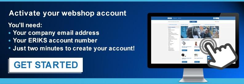 Get Started with Eriks Webshop