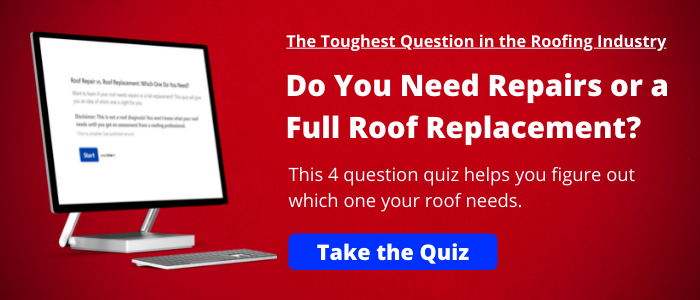 roof repairs or roof replacement