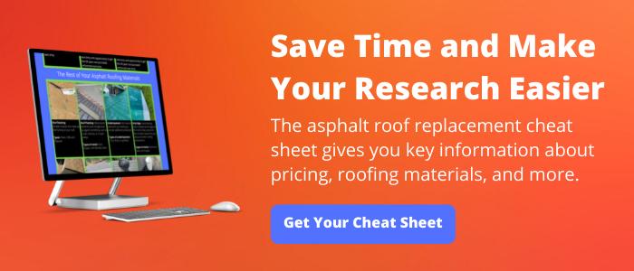 asphalt roof replacement cheat sheet