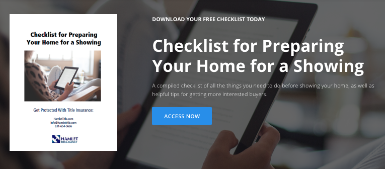 Checklist for Showing a Home