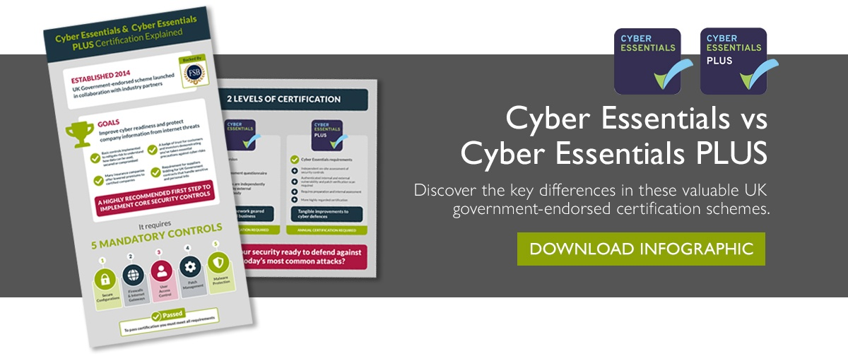 Cyber Essentials vs Cyber Essentials Plus - what's the difference
