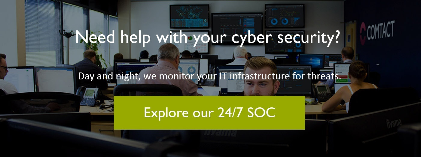 24/7 UK SOC (Security Operations Centre)