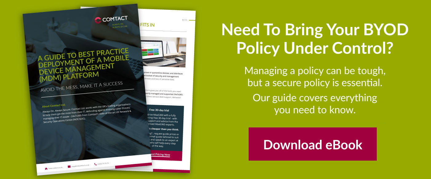 BYOD policy guide for Mobile Device Management