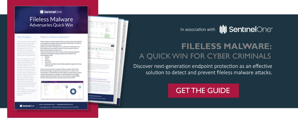 SentinelOne guide: How to solve the problem of fileless malware