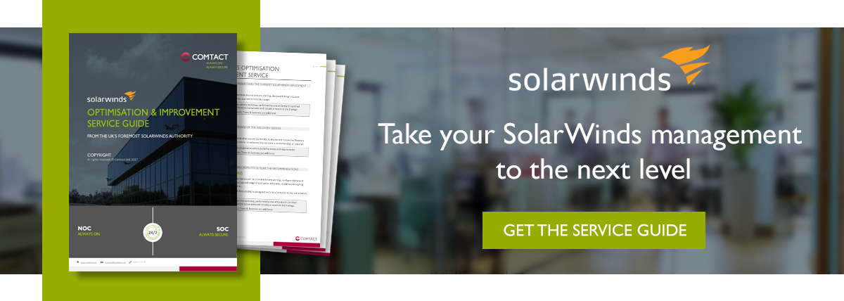 SolarWinds consultancy services