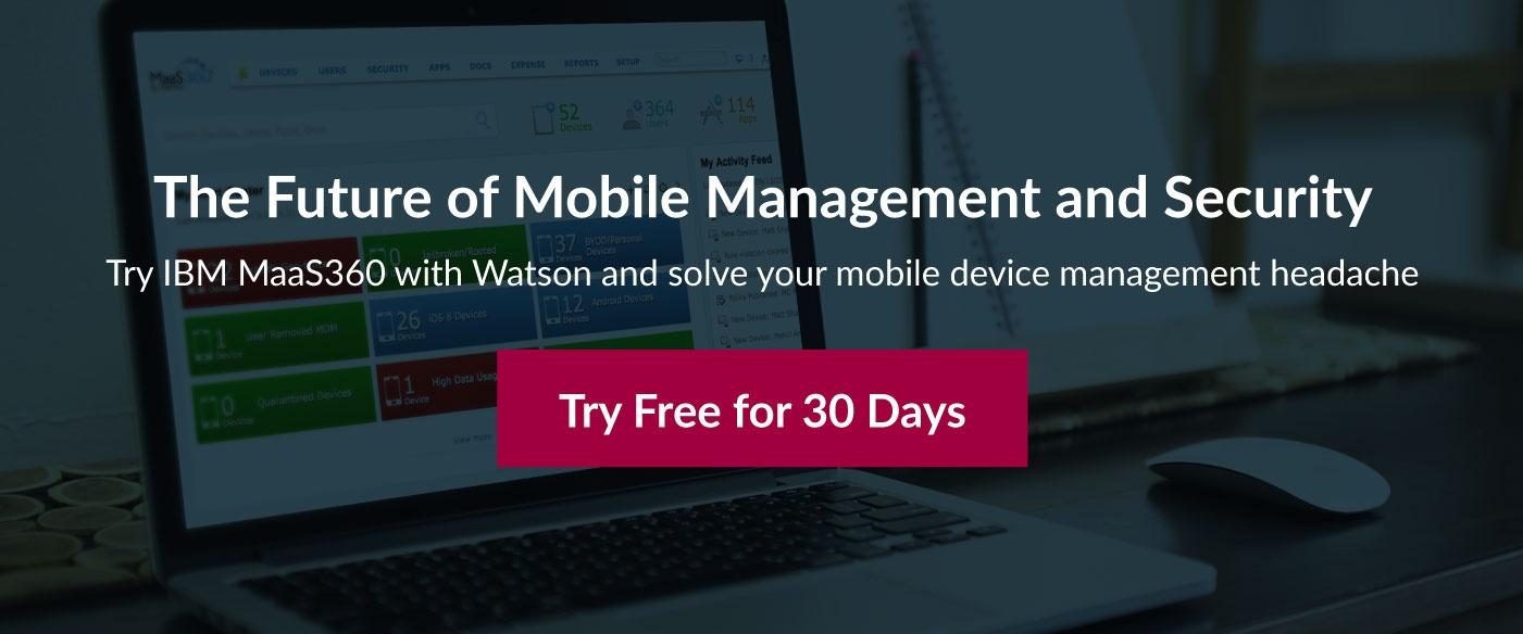 Mobile management security IBM MaaS360