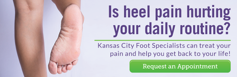 Request a heel pain consultation from Kansas City Foot Specialists