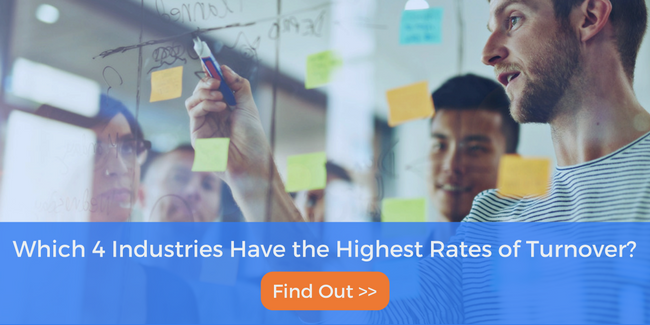 Which 4 industries have the highest rates of turnover? find out!