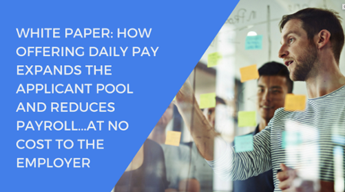 Offering an instant payment benefit like DailyPay can help recruit new employees. Learn how DailyPay can help expand your applicant pool.