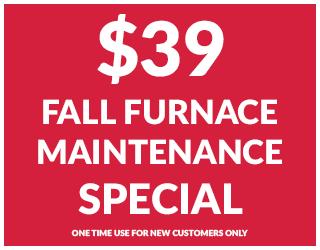 $39 Fall Furnace Maintenance Special