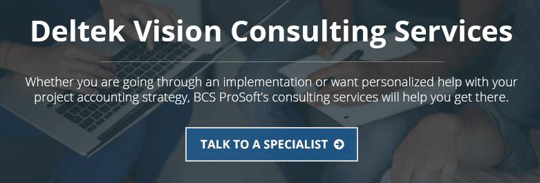 Deltek Vision Consulting Services