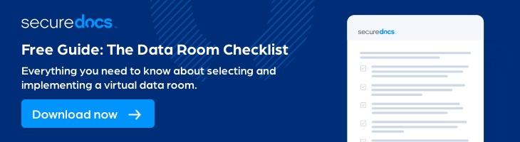 Data Room Checklist