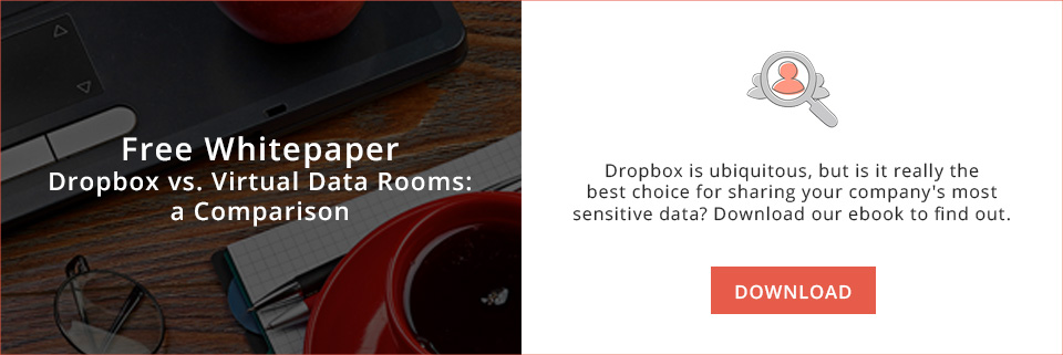 Dropbox VS. Virtual data rooms