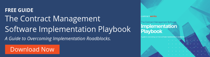 The Contract Management Software Implementation Playbook