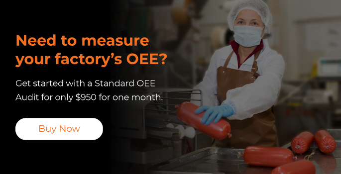 Receive a 30-day OEE Audit to measure downtime and throughput.
