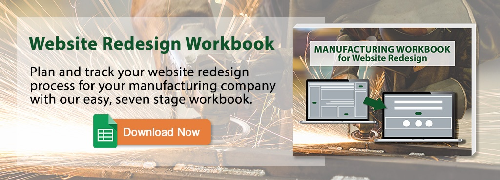 Manufacturing Workbook for Website Redesign