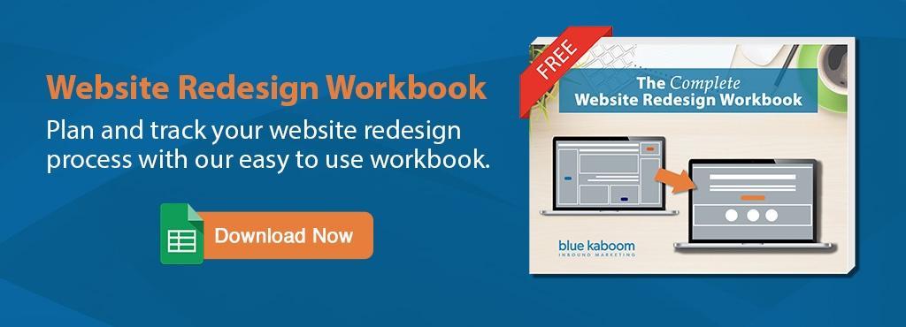 Complete Webside Redesign Workbook