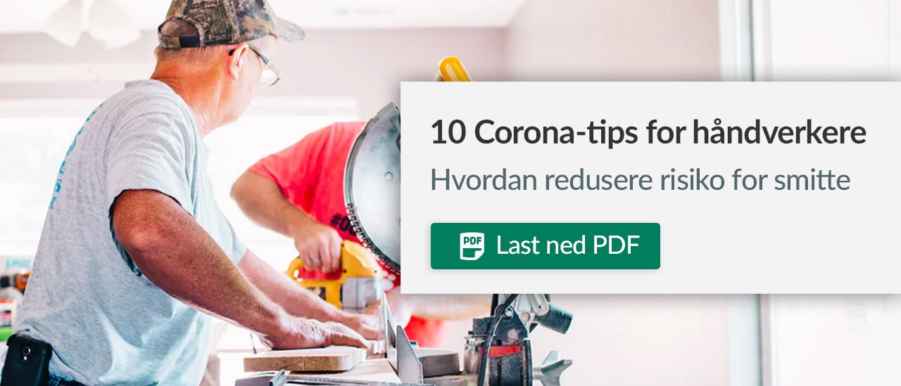 10 Corona-tips for håndverkere