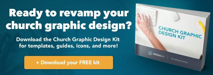 Church graphic design kit CTA horizontal