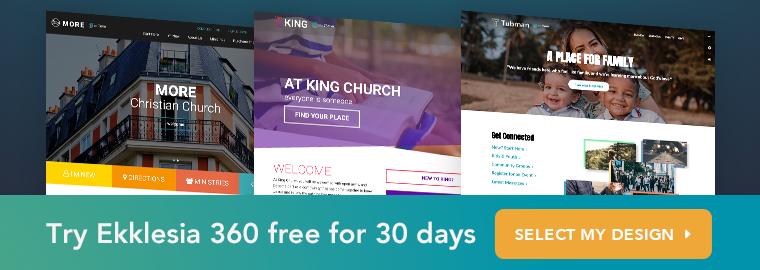 Try Ekklesia 360 free for 30 days
