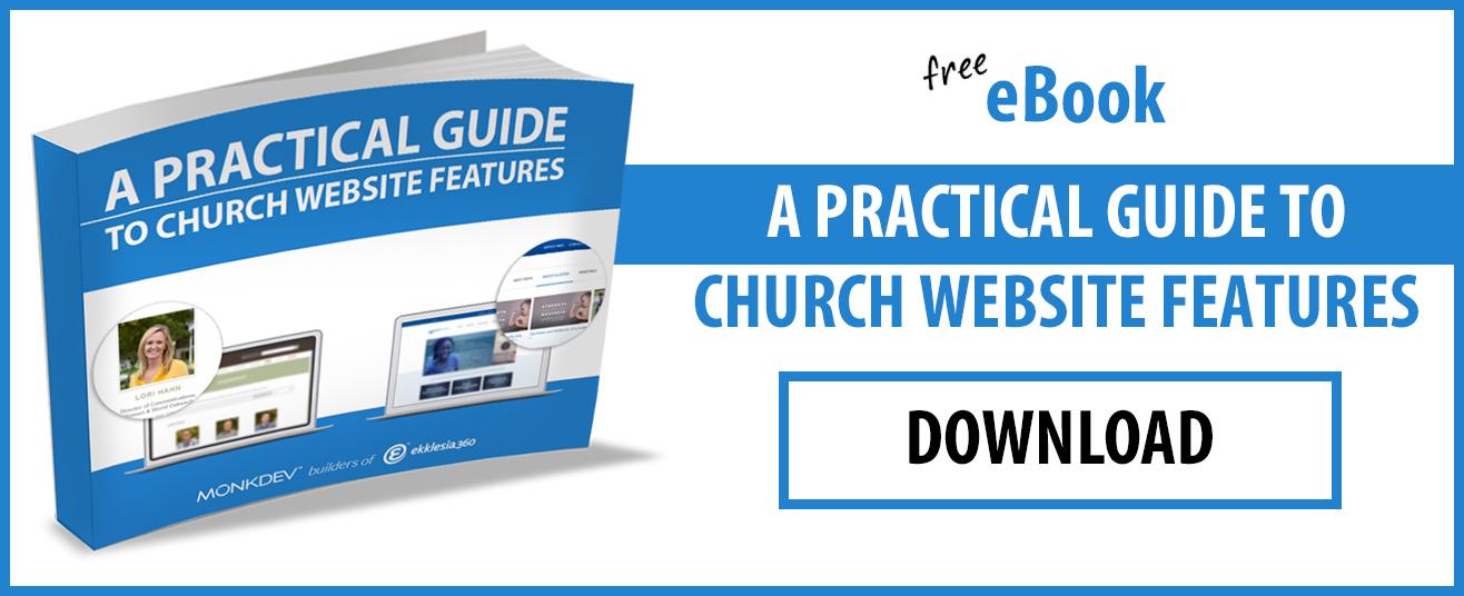 Free eBook Church Website Features