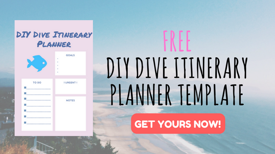 DIY Scuba Diving Itinerary Planner Template