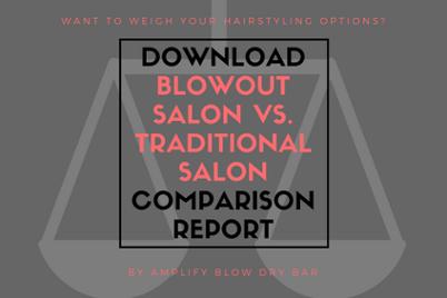 Download Our  Blowout Salon vs. Traditional Salon  Comparison Report