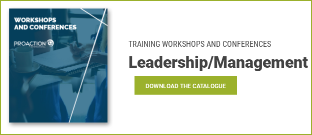 TRAINING WORKSHOPS AND CONFERENCES Leadership/ManagementDownload the catalogue