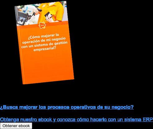 ¿Busca mejorar los procesos operativos de su negocio?  Obtenga nuestro ebook y conozca cómo hacerlo con un sistema ERP