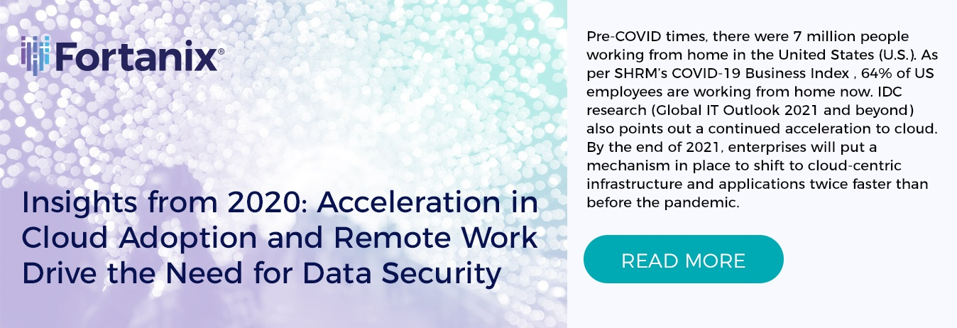 Insights from 2020: Acceleration in Cloud Adoption and Remote Work Drive the Need for Data Security