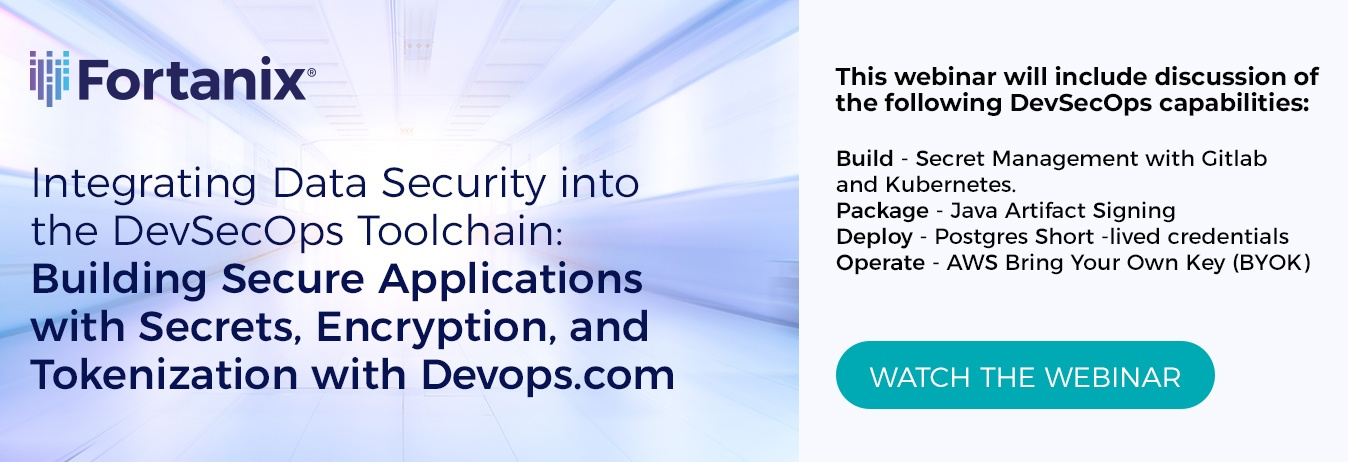 On-demand webinar on integrating data security into the devSecOps