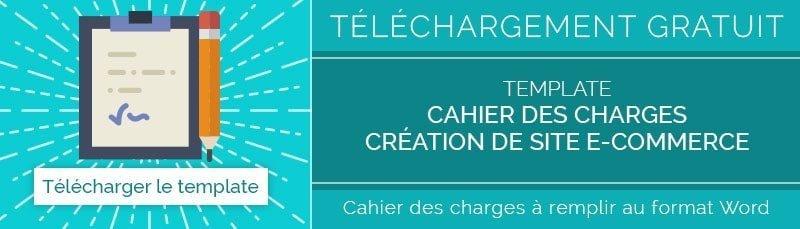 Template gratuit  Cahier des charges de site e-commerce