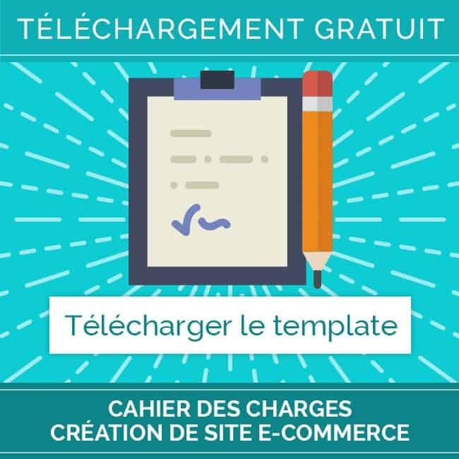 Template gratuit  Cahier des charges création de site e-commerce – carré