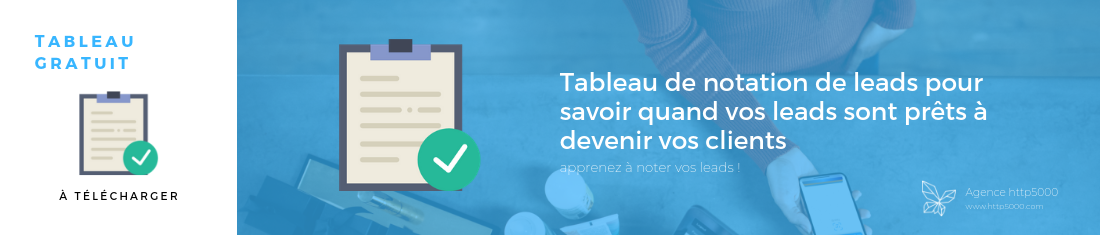Template – Tableau de notation de leads pour savoir quand vos leads sont prêts à devenir vos clients – Rectangle