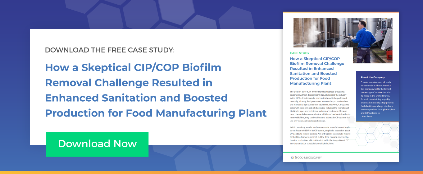 How a Skeptical CIP/COP Biofilm Removal Challenge Resulted in Enhanced Sanitation and Boosted Production for Food Manufacturing Plant