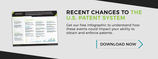 recent changes patent system infographic