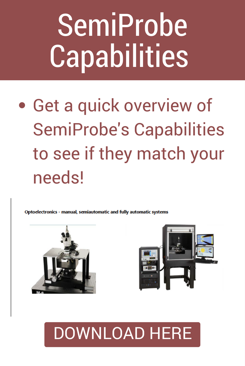 SemiProbe Capabilities & Applications Guide for Wafer Characterization & Testing