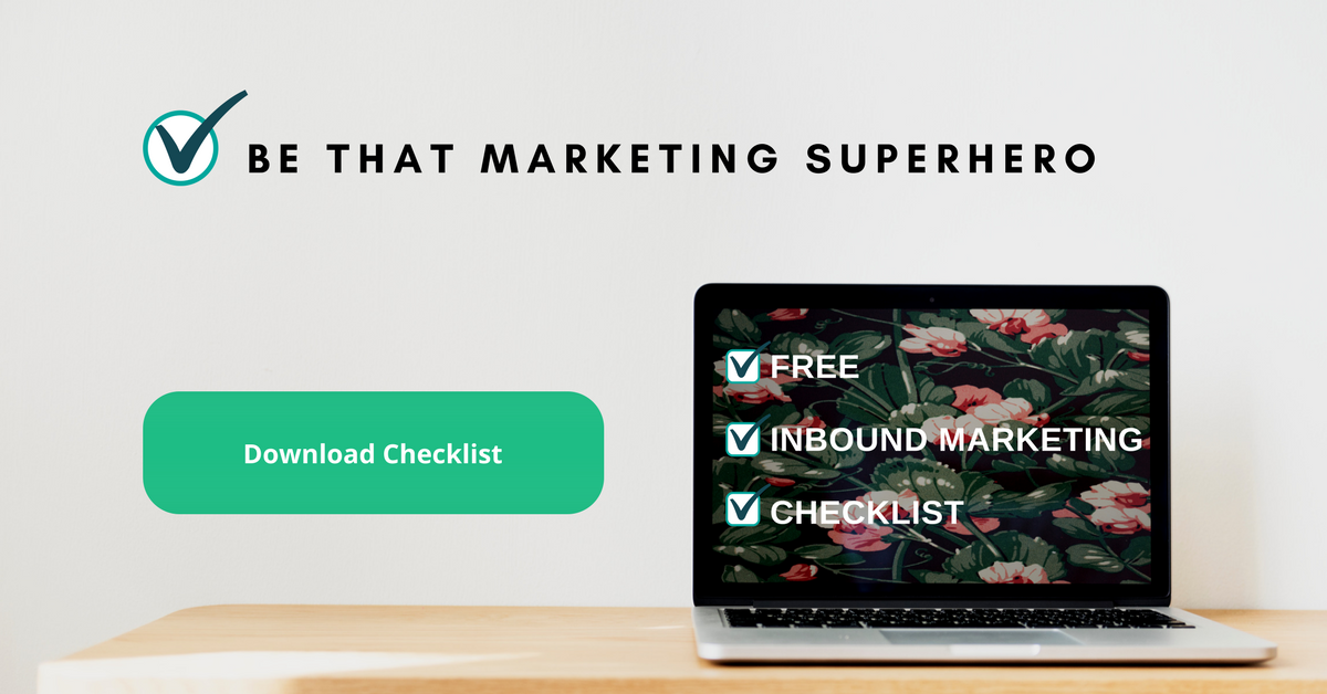 Free inbound marketing checklist Webplanners graphic