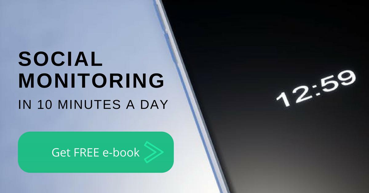 Social monitoring ebook call to action