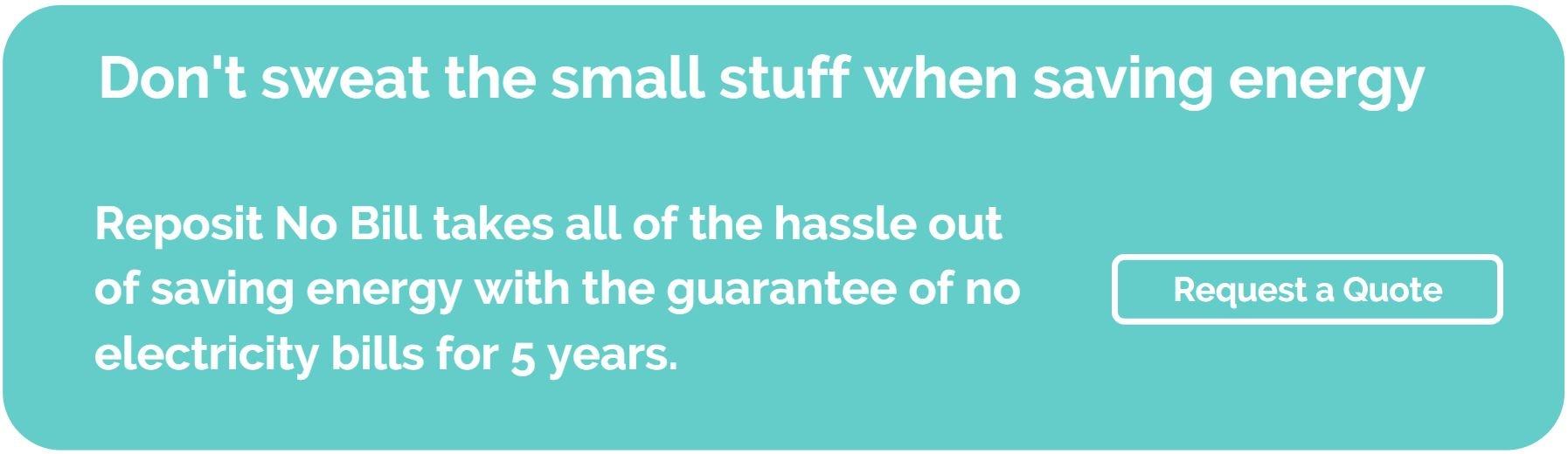 Dont sweat the small stuff - large image