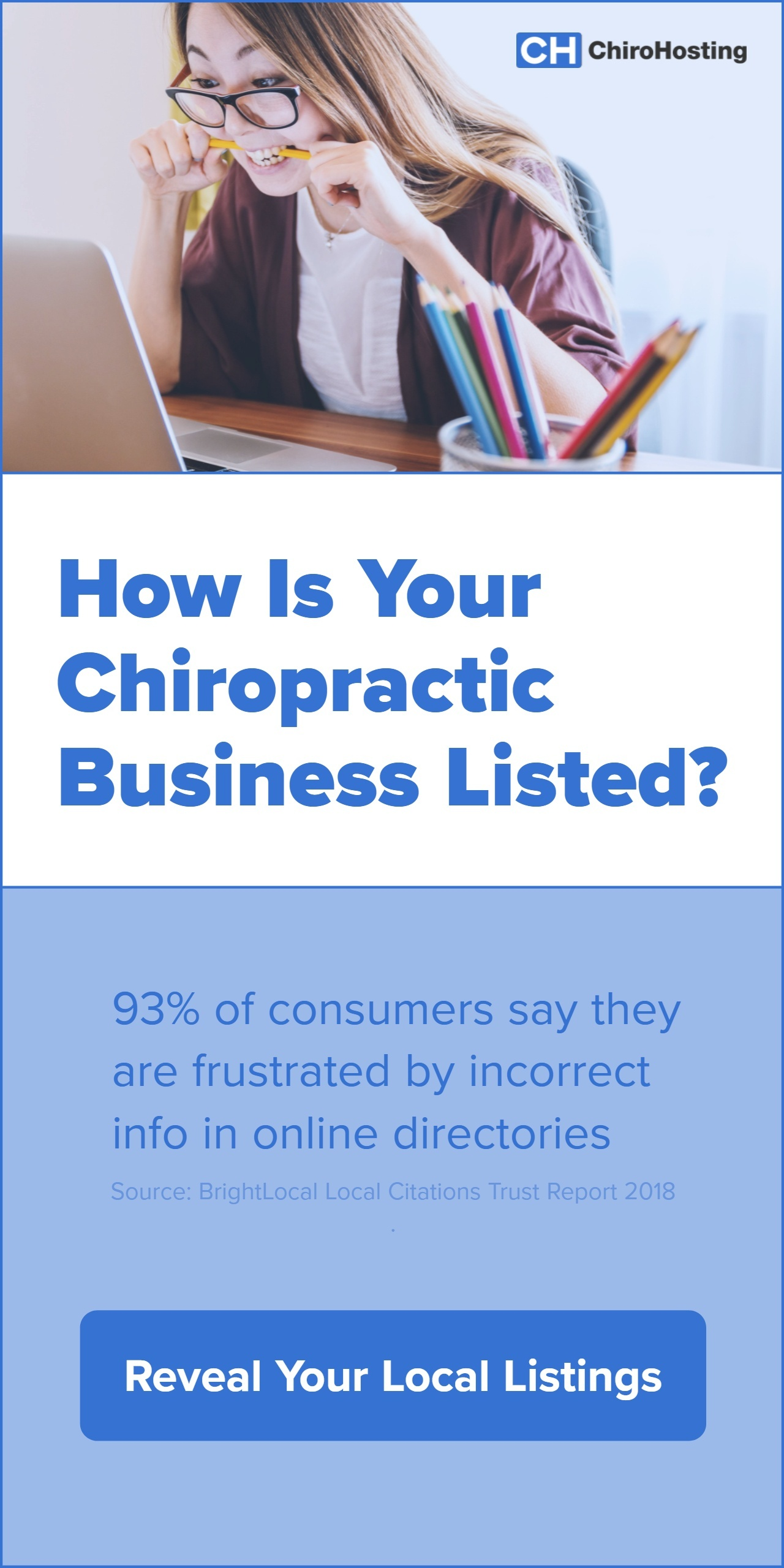 How is your chiropractic business listed? Click here to scan your local listings.