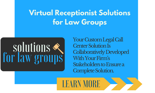 Blue Virtual Receptionist Solutions for Law Groups Button